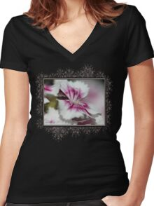 Sweet William from the Super Duplex Bluepoint Mix Women's Fitted V-Neck T-Shirt