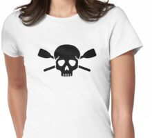Crossed oars paddles skull Womens Fitted T-Shirt