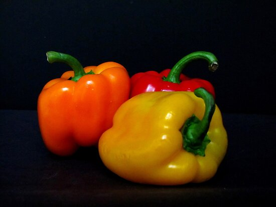 Bell Peppers by Gloria Abbey
