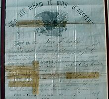 Civil War Discharge Papers by Loree McComb