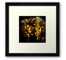 Floral contrasts yellow Framed Print