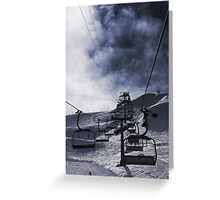 The Chairlift Greeting Card
