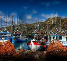 Crabpots & Trawlers by Kevin  Kroeker