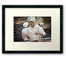 Kitchen Painter Framed Print