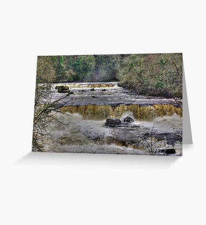 The Falls - River Ure Greeting Card