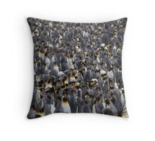 King penguins rookery Throw Pillow