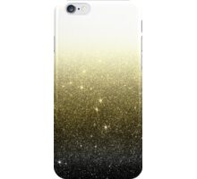 Black and Gold Faux Glitter Gradient iPhone Case/Skin