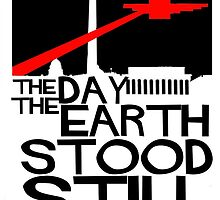 The Day the Earth Stood Still- minimalist poster by Peter Simpson