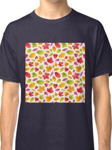 Autumn Leaves Seamless Pattern Classic T-Shirt