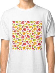 Autumn Leaves Seamless Pattern Classic T-Shirt