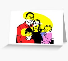 Family Portrait - concept Greeting Card