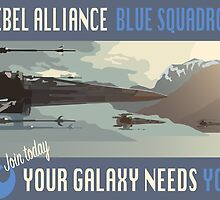 Rebel Alliance Blue Squadron by Tuco-Ramirez