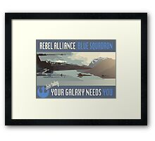 Rebel Alliance Blue Squadron Framed Print