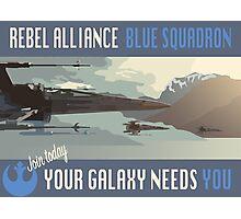 Rebel Alliance Blue Squadron Photographic Print