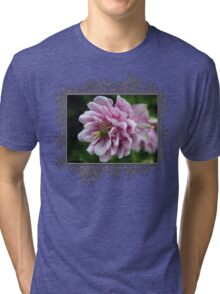Double Columbine named Pink Tower Tri-blend T-Shirt