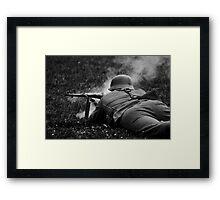 German WWII Soldier Firing Framed Print