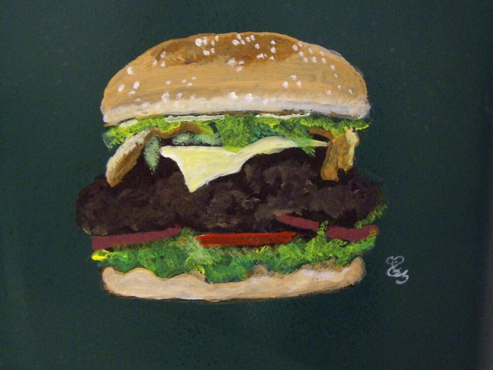 Cheese burger by Carole Robins