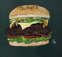Cheese burger by Carole Robins