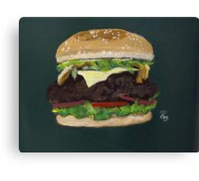 Cheese burger Canvas Print