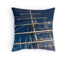 top mast Throw Pillow