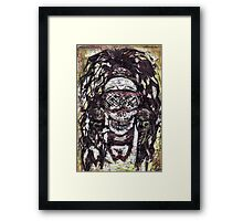 Goggle Skull Framed Print