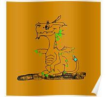 Bejeweled Lagoon Dragon Poster