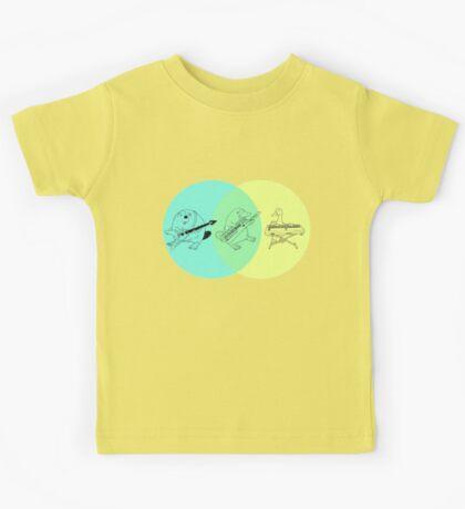 Keytar Platypus Venn Diagram Kids Tee