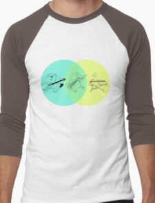 Keytar Platypus Venn Diagram Men's Baseball ¾ T-Shirt