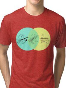 Keytar Platypus Venn Diagram Tri-blend T-Shirt