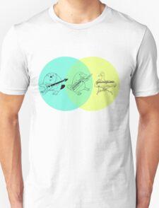 Keytar Platypus Venn Diagram T-Shirt