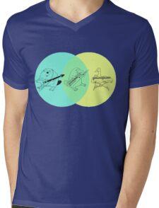 Keytar Platypus Venn Diagram Mens V-Neck T-Shirt