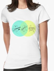 Keytar Platypus Venn Diagram Womens Fitted T-Shirt