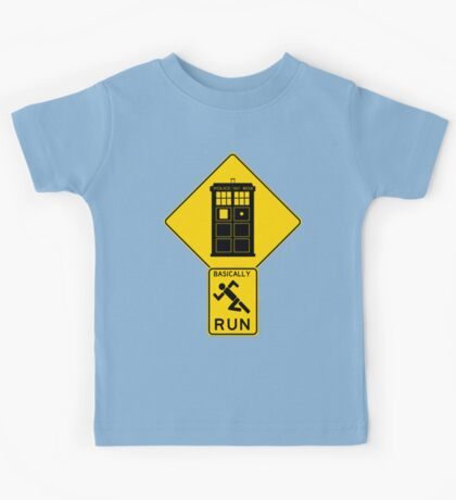 Warning! Time Traveler Ahead!  Kids Tee