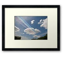 Red arrows on display. Framed Print