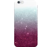 Pink and Dark Teal Faux Glitter Gradient iPhone Case/Skin