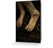 Bare Foot Greeting Card