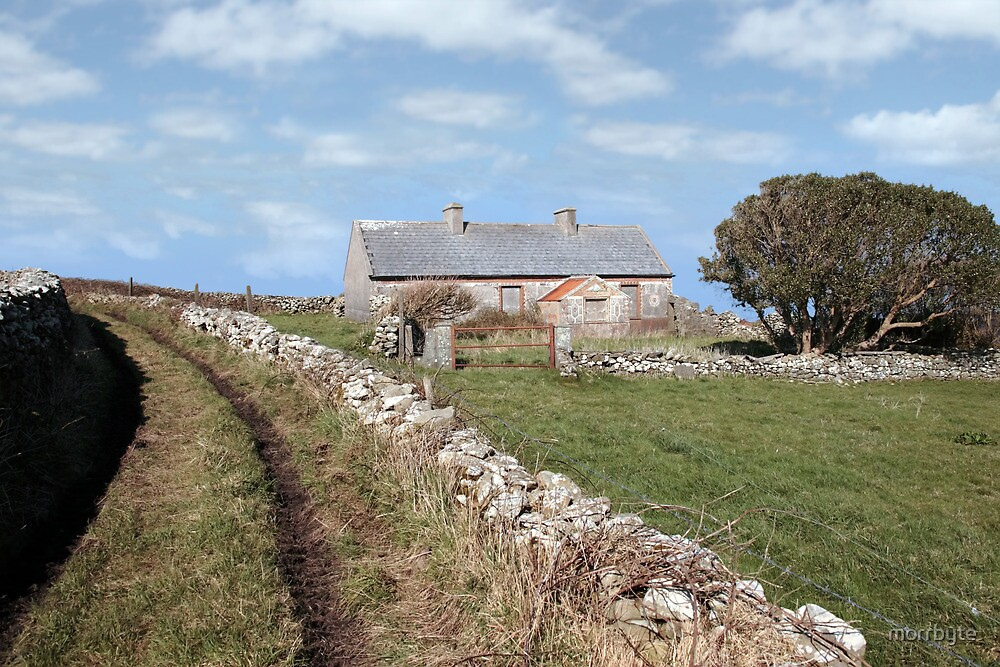 abandoned cottage in county Kerry Ireland by morrbyte