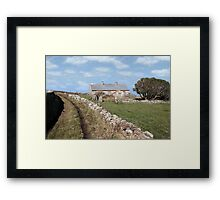 abandoned cottage in county Kerry Ireland Framed Print