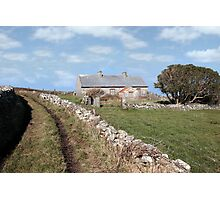 abandoned cottage in county Kerry Ireland Photographic Print