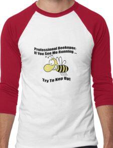 Professional beekeeper mens geek funny nerd Men's Baseball ¾ T-Shirt