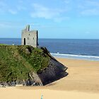an irish flags view Ballybunion Ireland by morrbyte