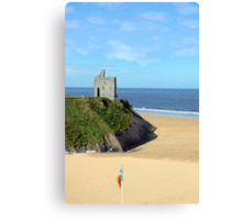 an irish flags view Ballybunion Ireland Canvas Print