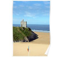 an irish flags view Ballybunion Ireland Poster