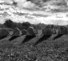 ancient stones in black and white by morrbyte