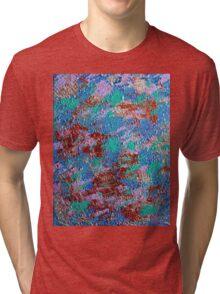 Blue & Copper Design  Tri-blend T-Shirt