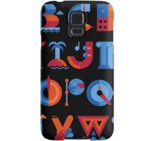Alphabet Samsung Galaxy Case/Skin