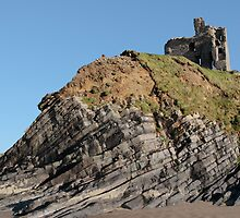 ballybunion castle on the cliff by morrbyte