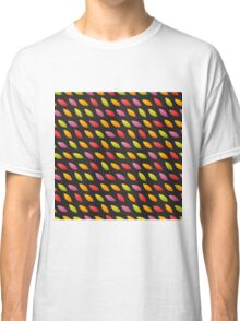 Tilted Autumn Leaves Pattern Classic T-Shirt