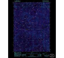 USGS Topo Map Oregon Groundhog Mountain 280109 1986 24000 Inverted Photographic Print