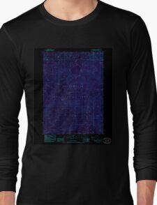 USGS Topo Map Oregon Groundhog Mountain 280109 1986 24000 Inverted Long Sleeve T-Shirt